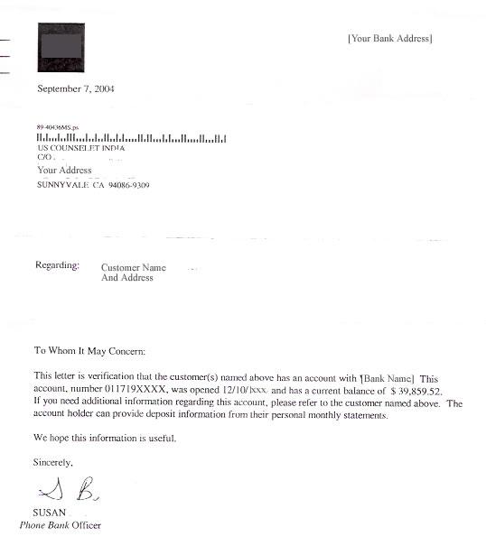 Employment Verification Letter For Visa Sponsorship Sponsorship – Bank Reference Letter Sample