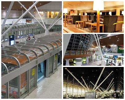 Gerbang Aerotrain dan Suasana Dalam Satelite Terminal A