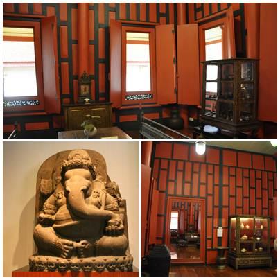 Bagian Dalam Red House dan Patung Ganesha di Bagian Java Art