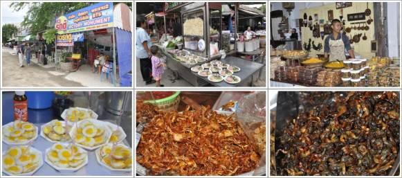 Pangkalan Minivan Menuju Bangkok dan Barang-Barang yang Dijual di Amphawa Night Market