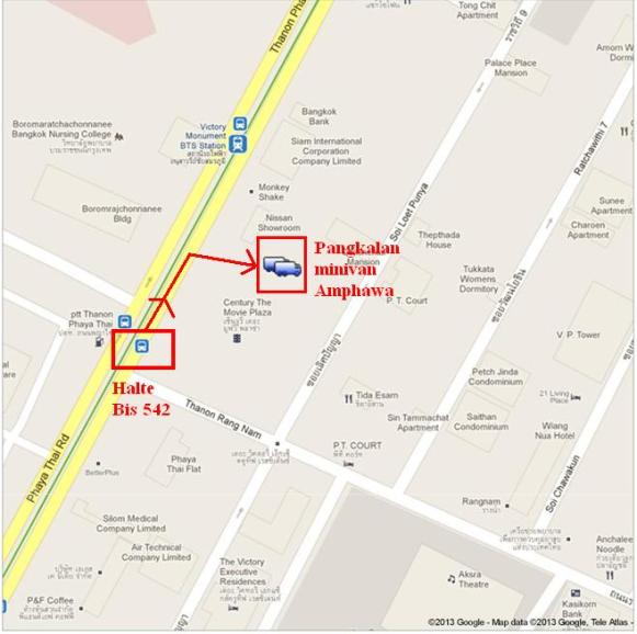Sumber Peta : Google Map dan http://bodyholic66.blogspot.com/2011/01/amphawa-floating-market.html