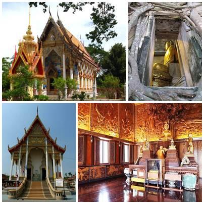 Wat Bang Kung (atas) dan Wat Bangkae Noi (bawah)