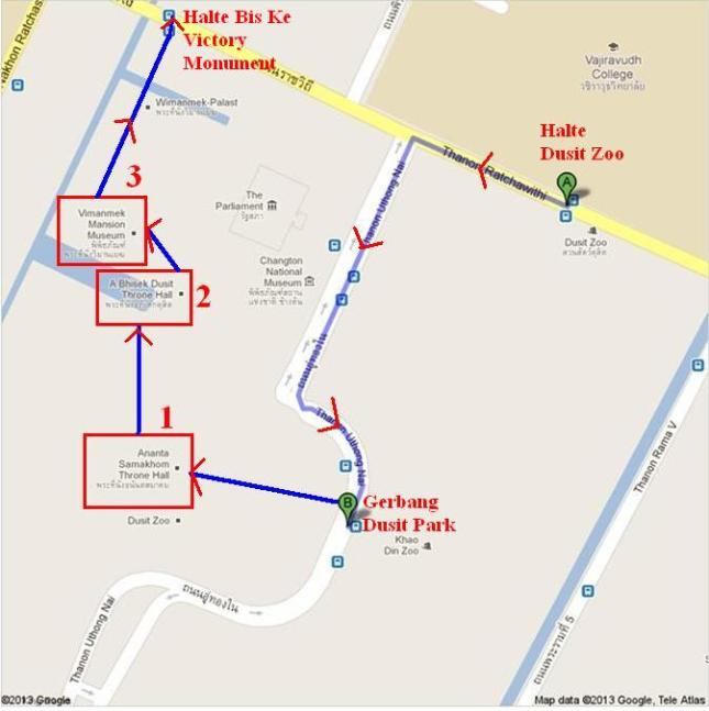 Peta Jalan Kaki Dari Dusit Zoo-crop