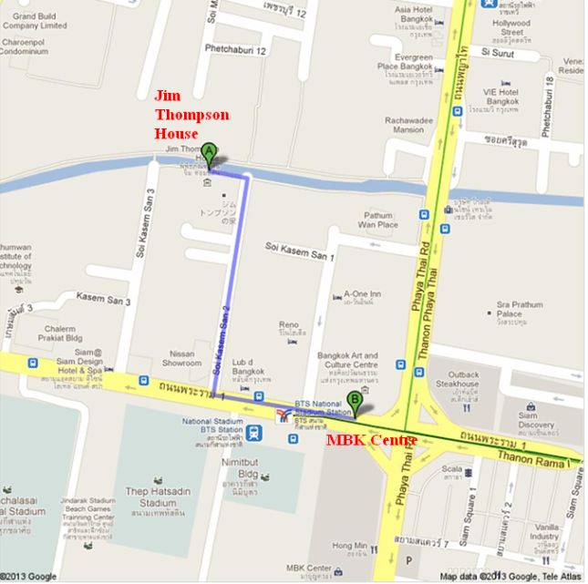 Rute Jalan Kaki MBK