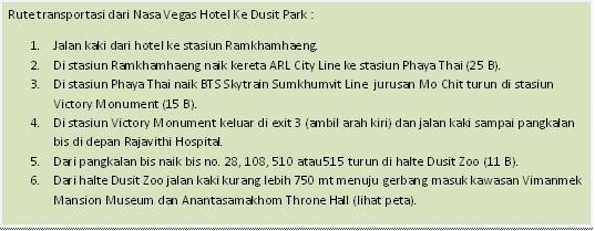 Rute ke Dusit Park