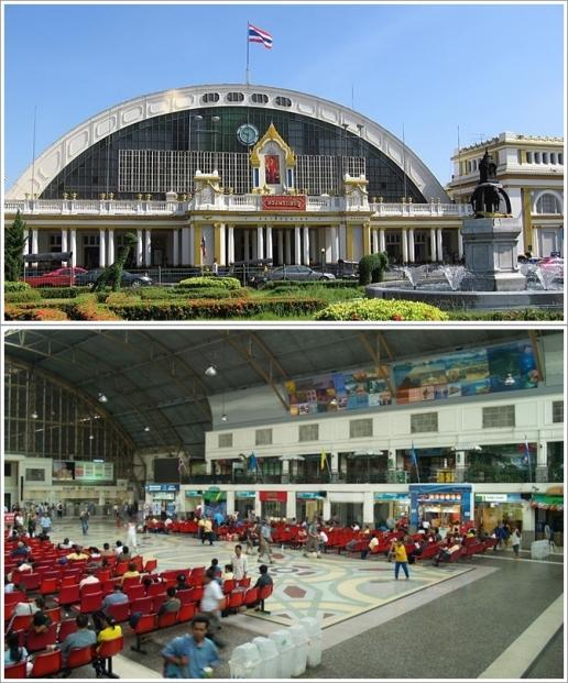 Bagian Luar dan Dalam Stasiun Hua Lamphong