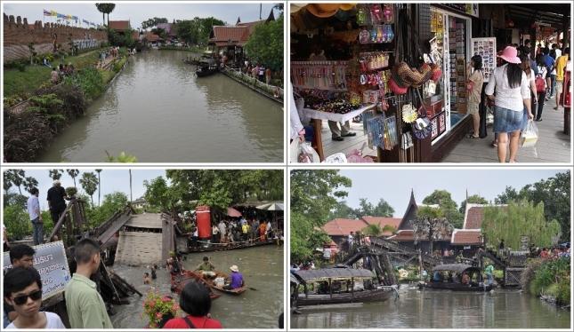 Bagian Dalam Ayutthaya Floating Market dan Jembatan Yang Patah