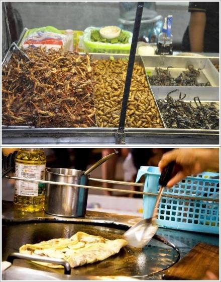 Makanan Ekstrem di Pattaya (Atas), Banana Pancake (Bawah)