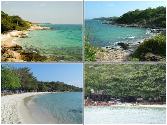 Ao Cho Beach (Kiri Atas), Ao (Kanan Atas), Ao Tub Tim (Kiri Bawah), Ao Wong Duan (Kanan Bawah)