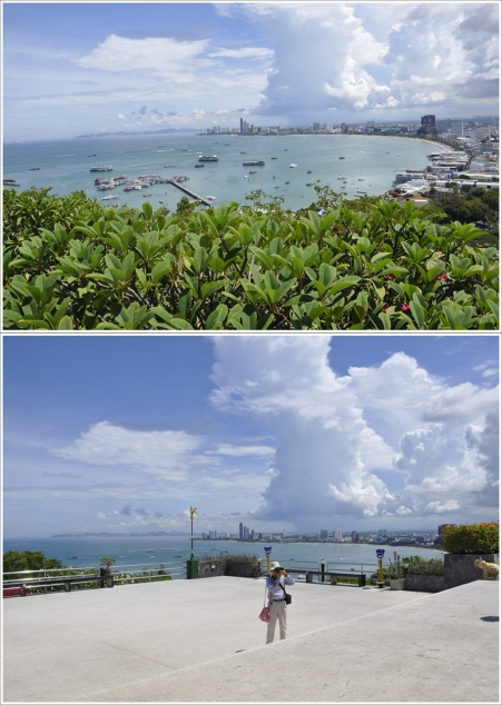 Pemandangan dari Pattaya View Point, Kelihatan Banget Kan Panasnya?