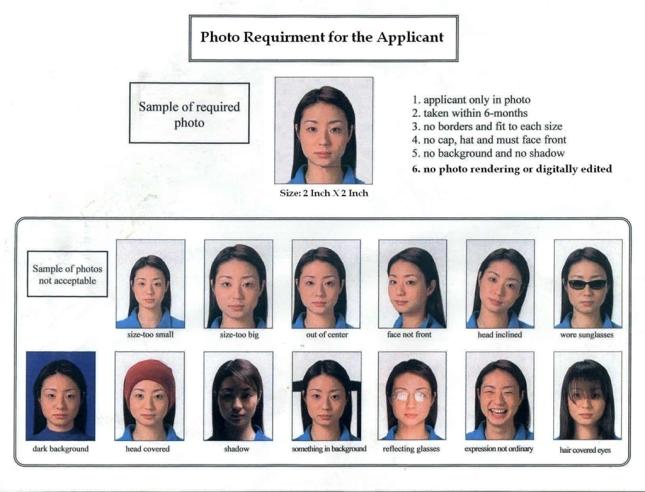 Contoh Foto Yang Tidak Sesuai Standar Visa