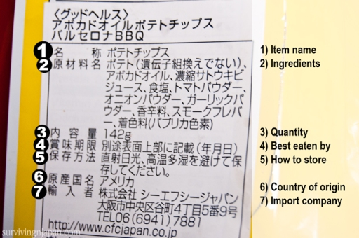 Contoh Food Label Di Jepang (Photo By : survivingjapan.com)