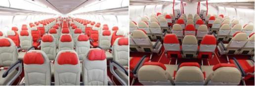 Bagian Dalam Pesawat Air Asia X (Photo By : blog.airasia.com)