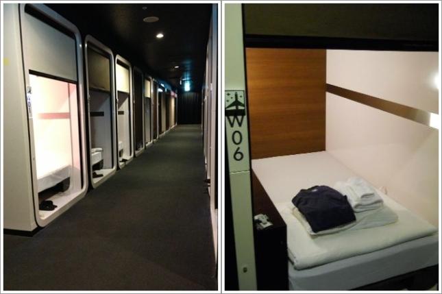 "Hotel Kapsul ""First Cabin"" di Haneda"