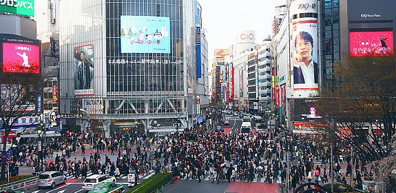 Shibuya Crossing (Photo By : Japanguide)