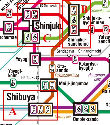 Peta Kereta Dari Stasiun Shibuya Ke Stasiun Shinjuku