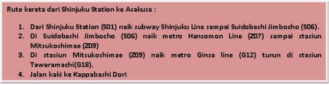 Shinjuku to Asakusa