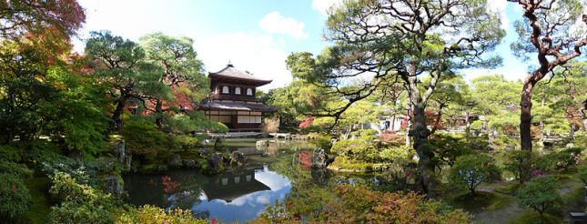 Kuil Ginkakuji Saat Musim Gugur (Photo By : Wikipedia)