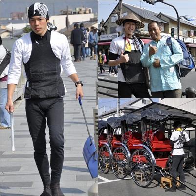Si- Mas penarik Rickshaw (Kiri & Kanan Atas), Tempat Mangkal Rickshaw (Kanan Bawah)