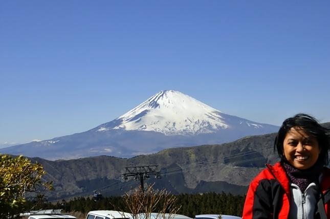 Pemandangan Gunung Fuji Dari Owakudani, Hakone
