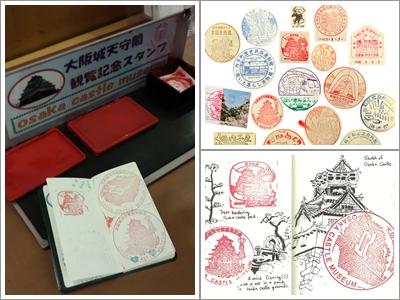 Stempel Osaka Castle dan Contoh Koleksi Stempel Jepang (Photo By : geekofalltrades & Ingrid Lezar)