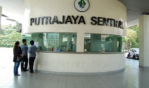 Loket bis di terminal Putrajaya