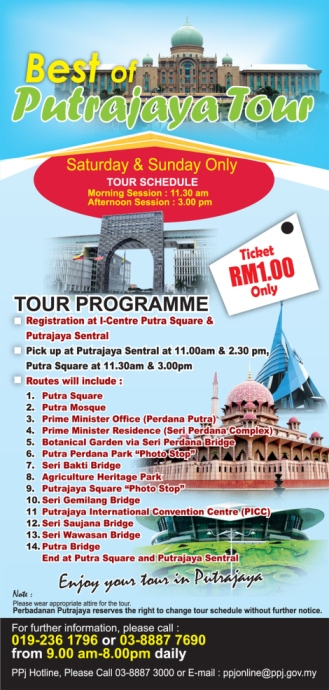 Pamflet Best Of Putrajaya Tour