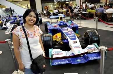 Display mobil-mobil Formula 1 di Pavilliun KL