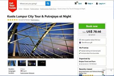 Contoh paket tour ke Putrajaya