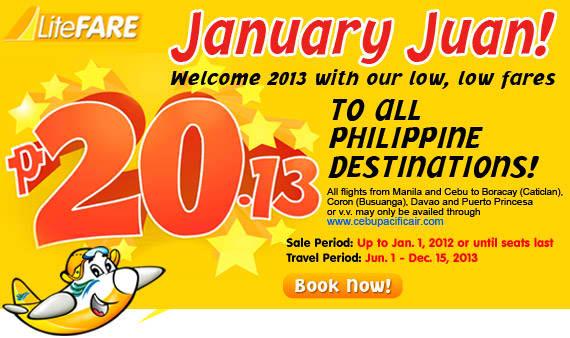 Contoh Promo dari Cebu Pasific