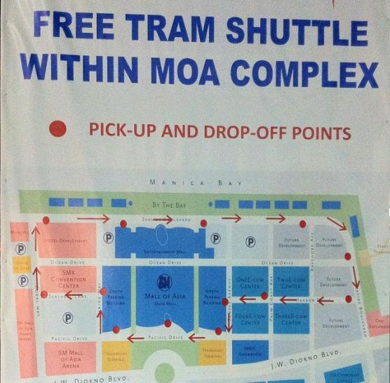Peta MOA Tram Shuttle