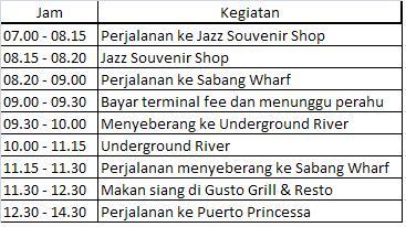 Jadwal Underground River Tour