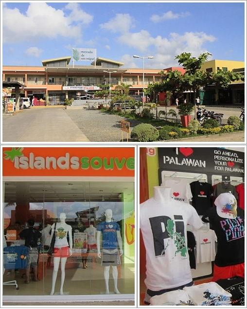 Bagian depan Mercado De San Miguel dan toko souvenir Island