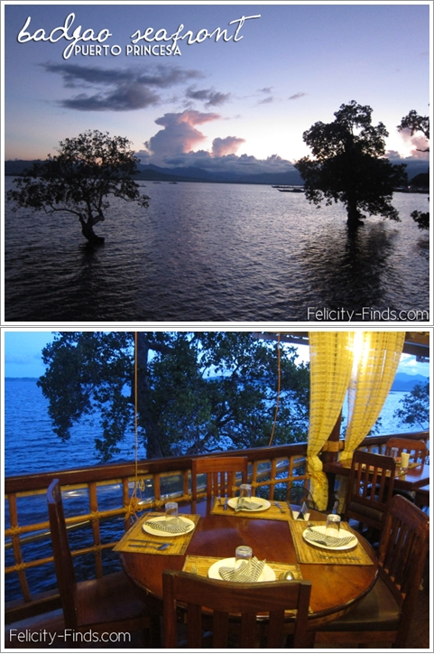 Pemandangan dari Badjao Seafront Restoran di waktu senja (Photo By : felicityfinds.wordpress.com)