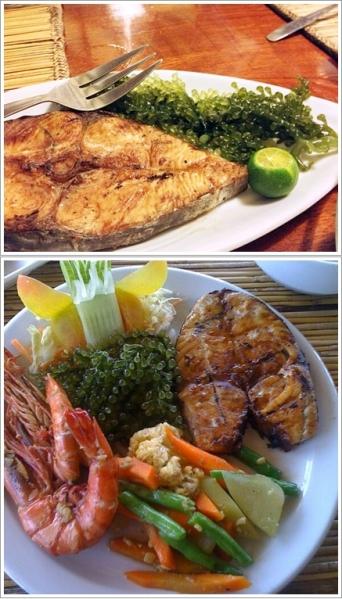 Fish Steak (atas) dan Mix Seafood Platter (bawah)