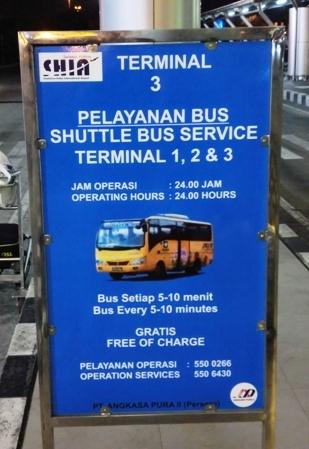 Pengumuman Jam Operasional Shuttle Bus Gratis Bandara Soekarno Hatta