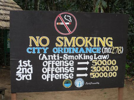 Tanda Dilarang Merokok di Underground River