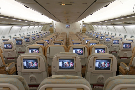 Bagian Dalam Etihad Coral Economy Class (Photo by : Wikipedia)