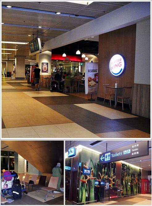 Tempat kami menginap di dekat restoran Burger King Terminal 1 Changi Airport