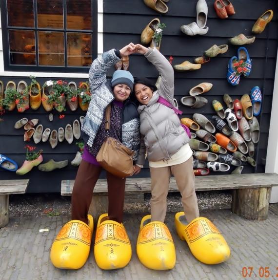 Saya dan Ibu di Zaanse Schans