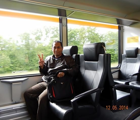 Bagian Dalam Kereta Kelas I dalam Jaringan Eurail Pass