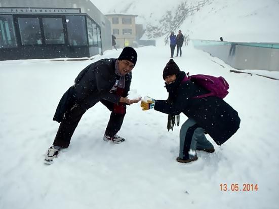 Kebagian Salju di Pilatus
