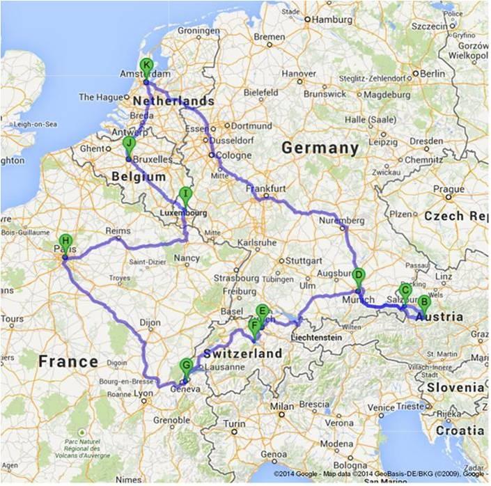 19 Hari Keliling Eropa Barat Belanda Jerman Austria