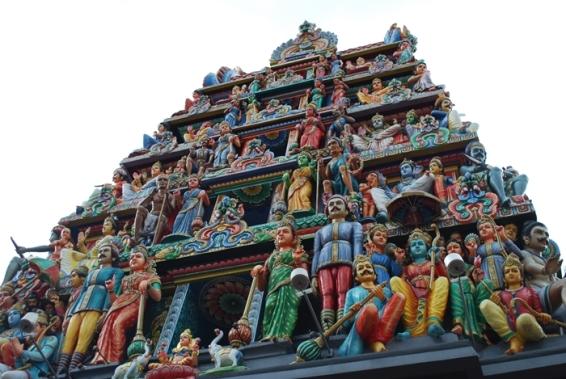 Gopuran Sri Mariamman Temple Singapura