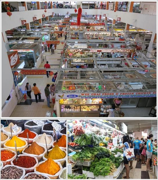 Bagian Dalam Wet Market Tekka Centre