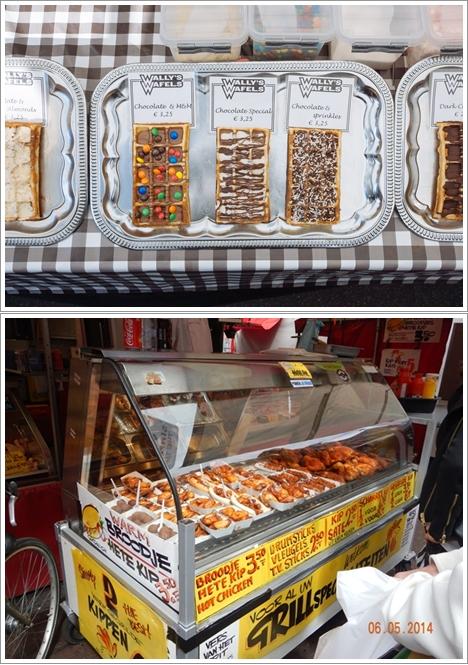 Waffle (atas), Ayam Goreng Halal (bawah)