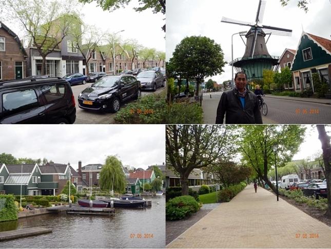 Jalanan yang sepi di Koog Zandijk