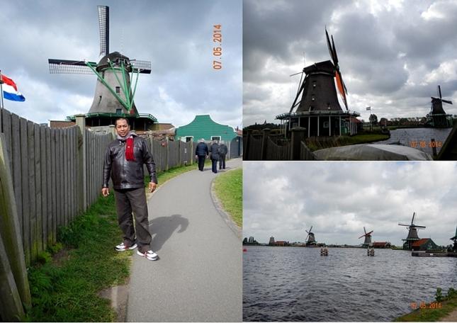 Bberapa kincir angin di Zaanse Schans