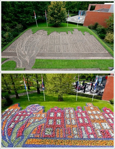 The 2014 Keukenhof Flower Mosaic shows (Photo By : hollands.com)