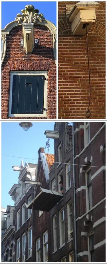 Kerekan di atap rumah (atas) dan cara mereka memasukkan barang (bawah) Photo by : gypsynester.com